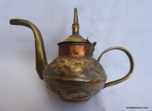 Tea pot 13x14 centimetre 140 gram Brass
