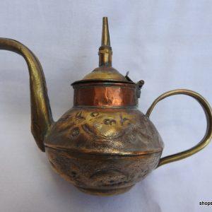 Tea pot 13x14 centimetre 140 gram Brass