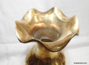 Vase 8x26 centimetre 400 gram Brass vintage