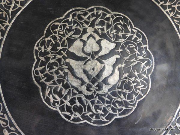 Black coloured 32 centimetre 860 gram copper decorative tin Vintage