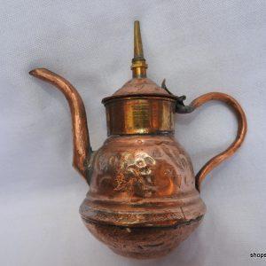Tea pot 13x14 centimetre 165 gram Copper