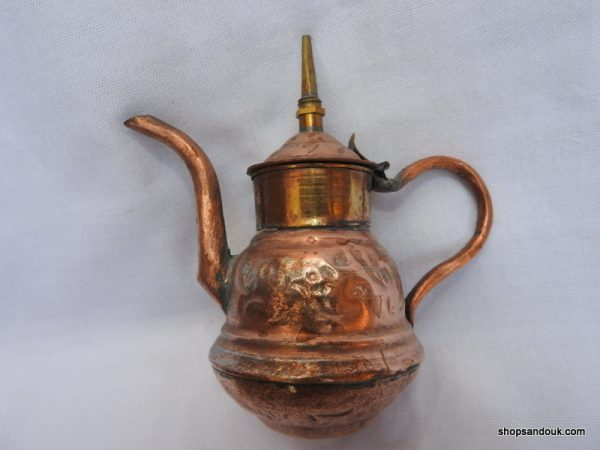 Tea pot 13x14 centimetre 165 gram Copper