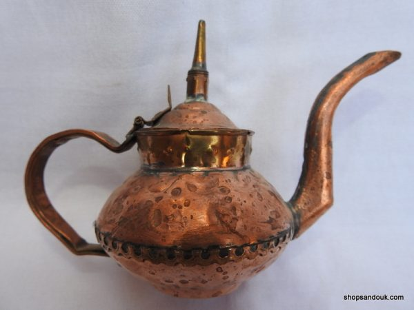 Tea pot 12x17 centimetre 140 gram Copper