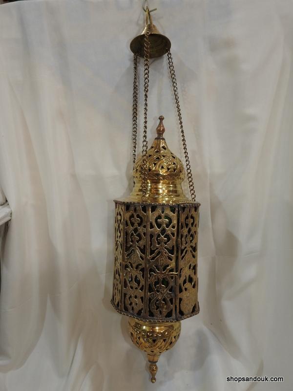 Ceiling Lantern 44X14 centimetre 1475 gram 6SP Oxidized