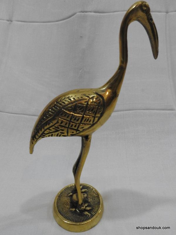 Egret Ibis 15x25 & 15x23 centimetre 510 gram Brass