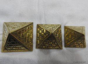 Pyramids Small 5x4.5x4 centimetre 230 gram Brass