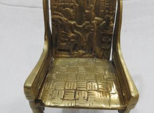 King Tut Throne 15x10x8 centimetre 455 gram Brass