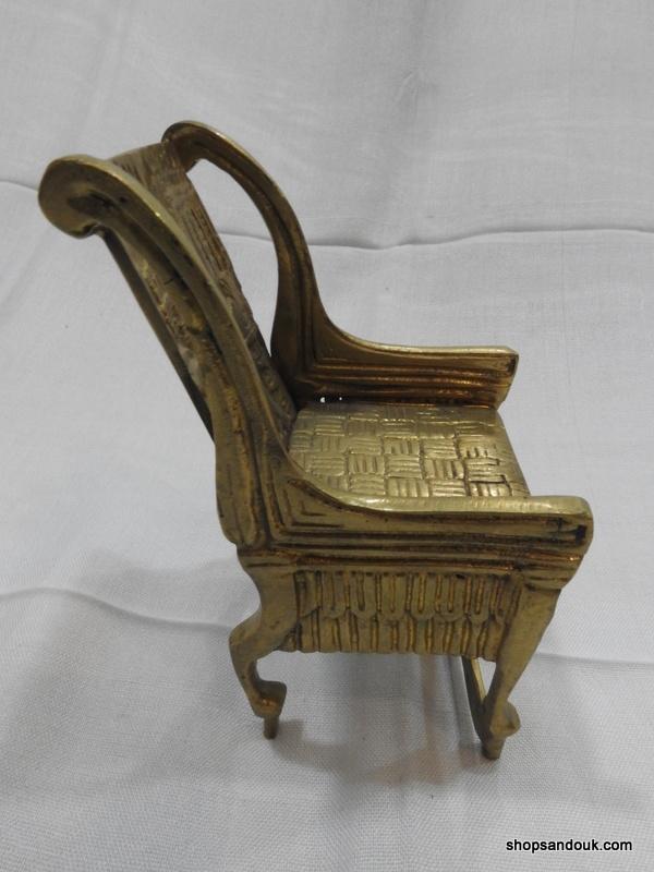 King Tut Throne 15x10x8 centimetre 455 gram Brass
