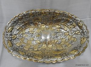 Fruit Bowel 34x21x8 centimetre 665 gram Oval vintage