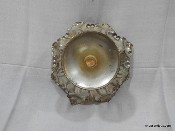 Fruit Bowels 410 gram 24x14 centimetre vintage copper plated silver