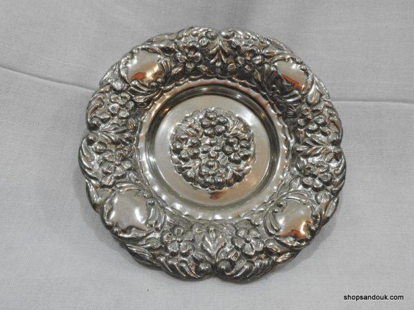shop sandouk Fruit Bowels 235 gram 19x5 centimetre vintage Copper plated silver