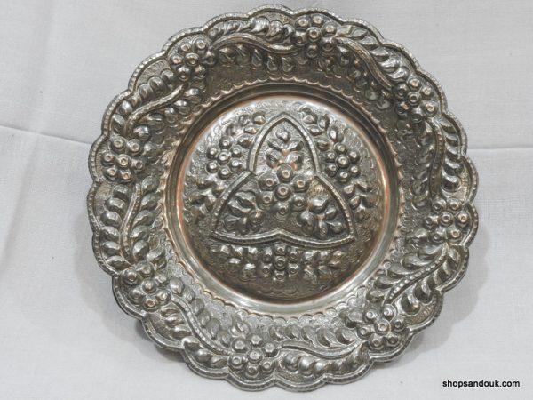Fruit Bowels 3670 gram 24x7 centimetre vintage copper plated silver