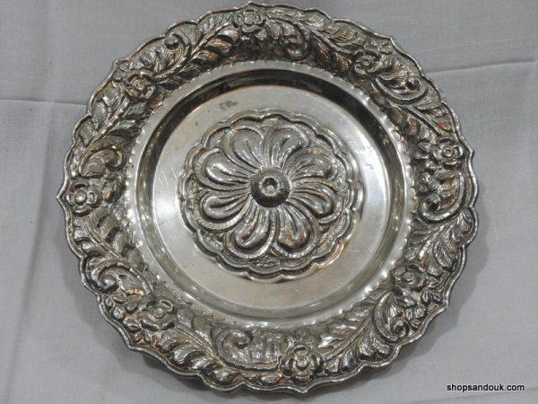 Fruit Bowels 540 gram 29x5 centimetre vintage copper plated silver