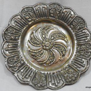 shop sandouk Fruit Bowels 310 gram 29x5 centimetre vintage copper plated silver