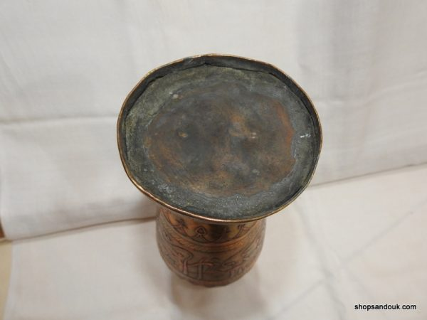 Vase 27x11 centimetre 870 gram Copper Moro vintage