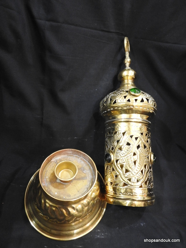 Table dome cylinder lamp 39x15 centimetre 385 gram Brass